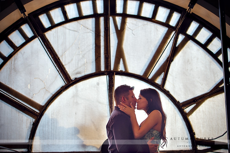 clocktower downtown denver engagement portrait colorado wedding