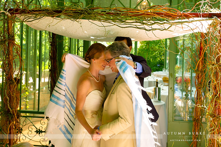 colorado wedding denver botanic gardens woodland mosaic solarium ceremony chuppah