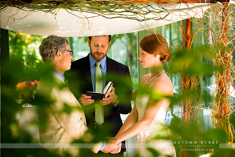wedding ceremony denver botanic gardens colorado solarium chuppah