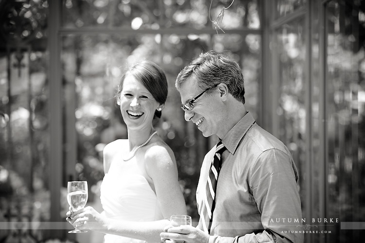wedding ceremony denver botanic gardens colorado toasts bride groom