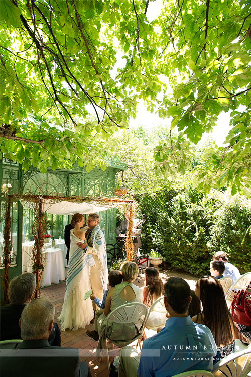 denver botanic gardens wedding ceremony chuppah woodland mosaic solarium colorado