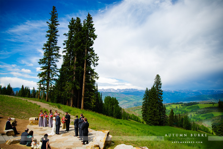 beaver creek wedding deck colorado mountain ceremony vows