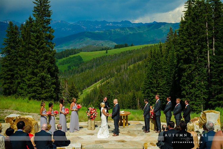 beaver creek wedding deck colorado mountain wedding ceremony