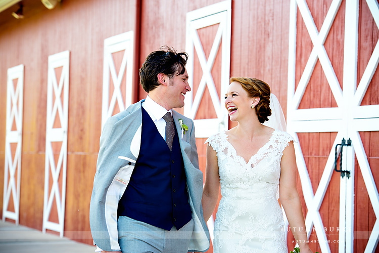 bridal and groom crooked willow farms wedding larkspur colorado barn joy laughter