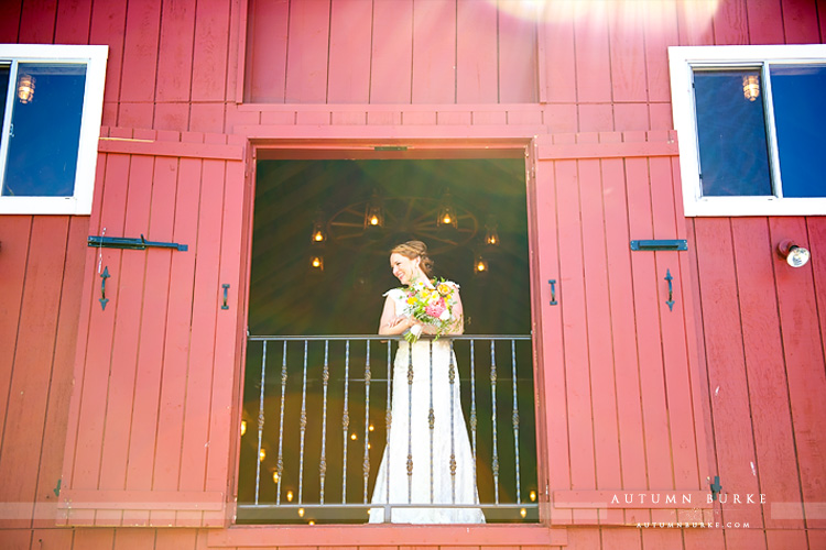 bridal portrait crooked willow farms wedding barn