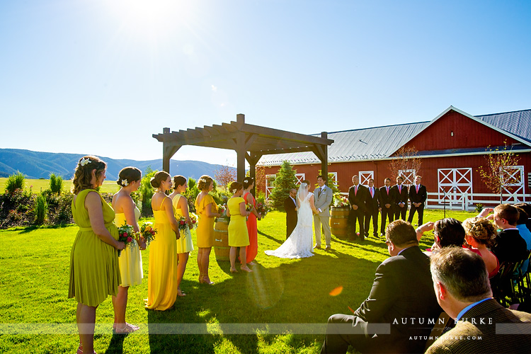crooked willow farms wedding ceremony vows barn larkspur colorado ranch