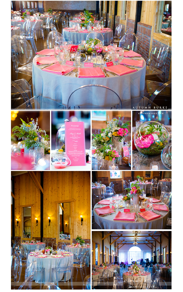 crooked willow farms wedding details decor romantic elegant pink colorado