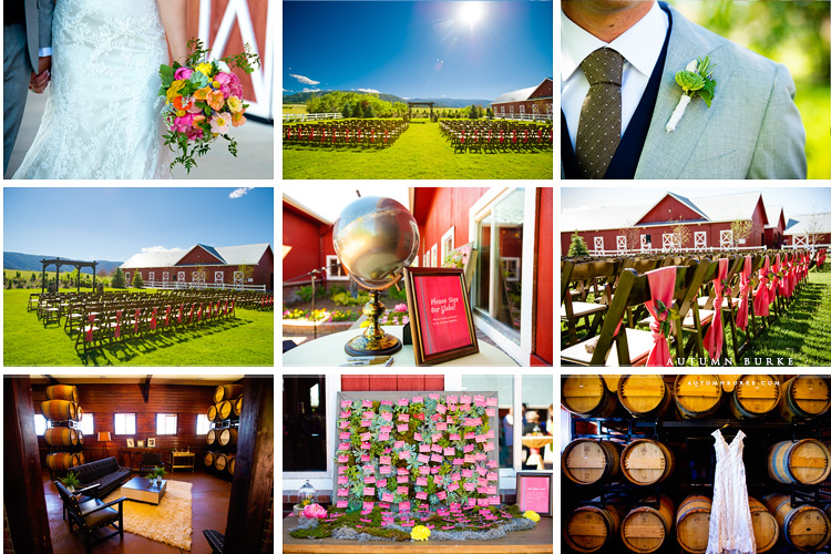 colorado barn crooked willow farms wedding ceremony details globe guestbook swanky lounge pink escort cards succulents