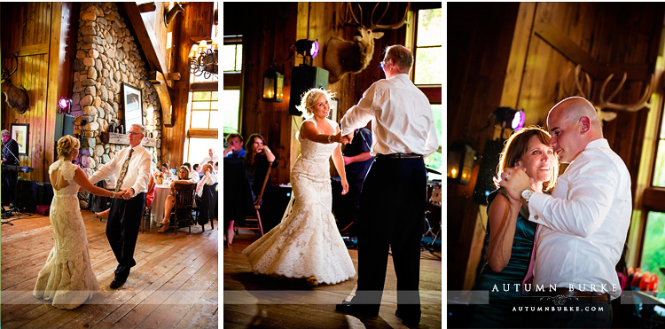 parent dances saddle ridge beaver creek wedding father daughter mother son dance colorado reception