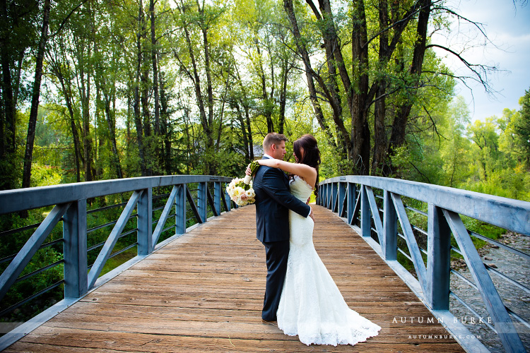 aspen colorado little nell mountain wedding bride groom bridge