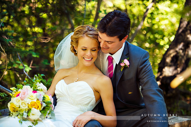 beaver creek chapel colorado mountain wedding portrait bride and groom saddle ridge