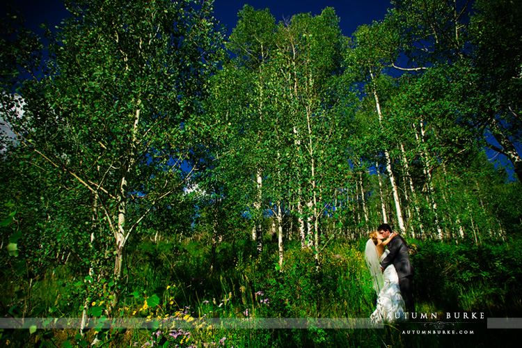 beaver creek saddle ridge wedding aspen trees bride and groom colorado mountain wedding