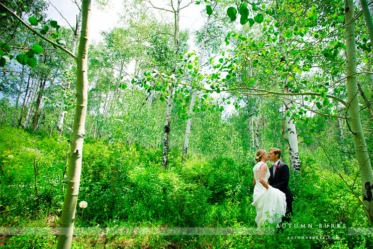beaver creek saddle ridge wedding colorado mountain first look wedding deck aspen grove