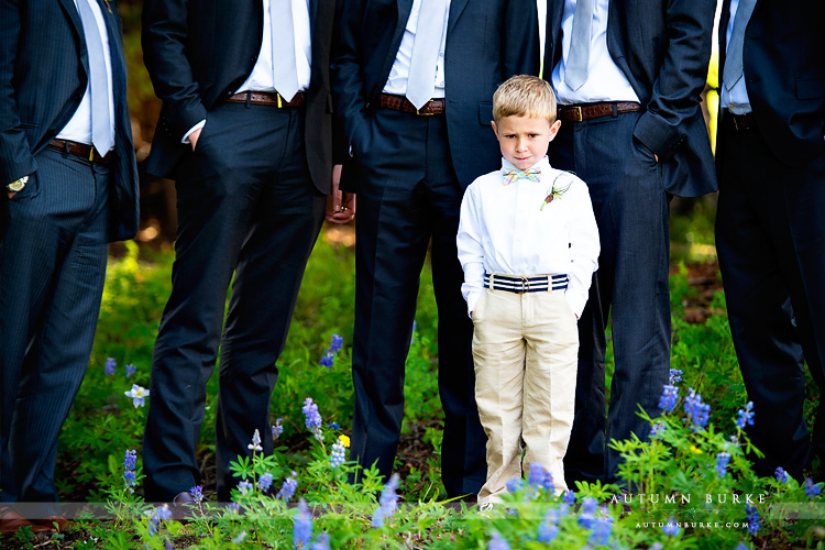 beaver creek saddle ridge wedding colorado mountain wedding deck ring bearer groomsmen
