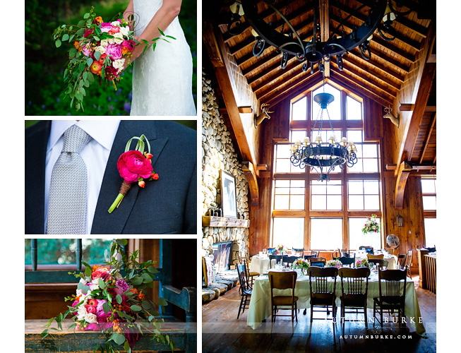 beaver creek saddle ridge wedding details bouquet boutiniere reception decor colorado mountains