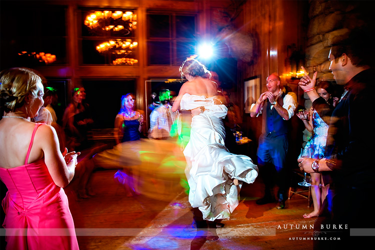 beaver creek saddle ridge wedding reception dance floor colorado mountain