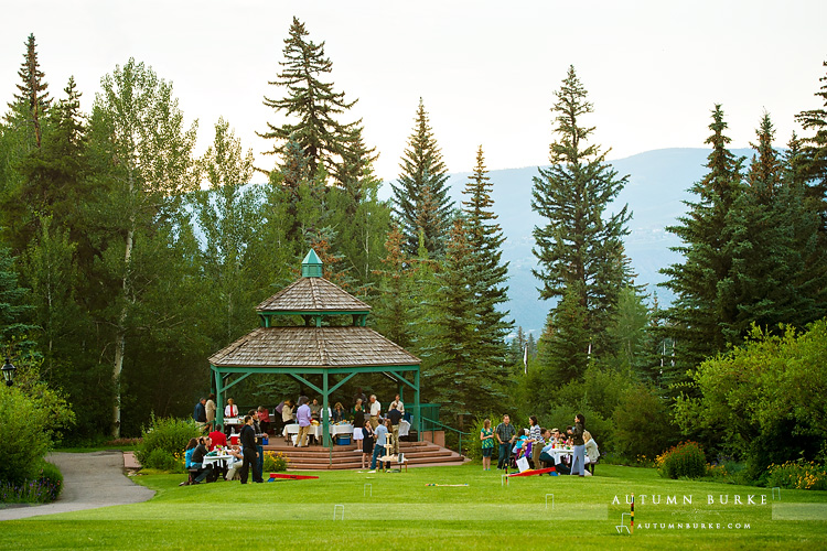 beaver creek wedding rehearsal picnic dinner colorado park