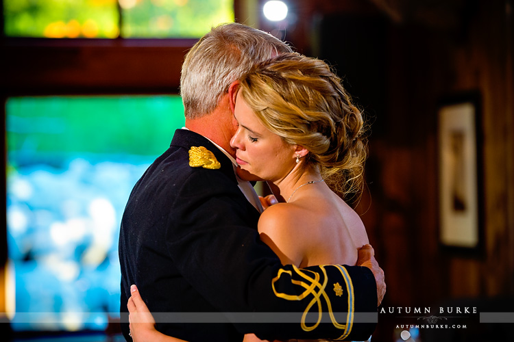 beaver creek wedding saddle ridge reception father daughter dance