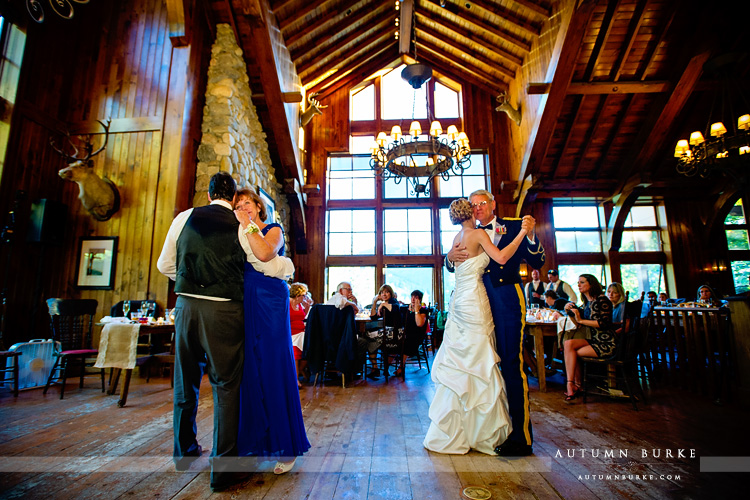 beaver creek wedding saddle ridge reception father daughter mother son dance parent dances