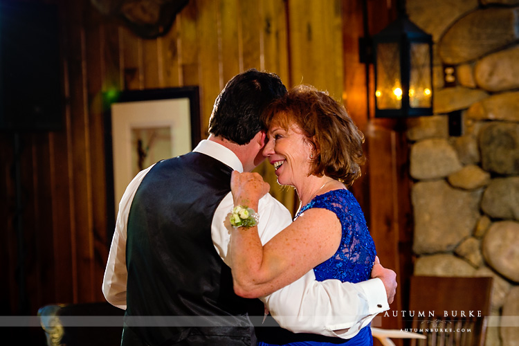 beaver creek wedding saddle ridge reception mother son parent dance colorado