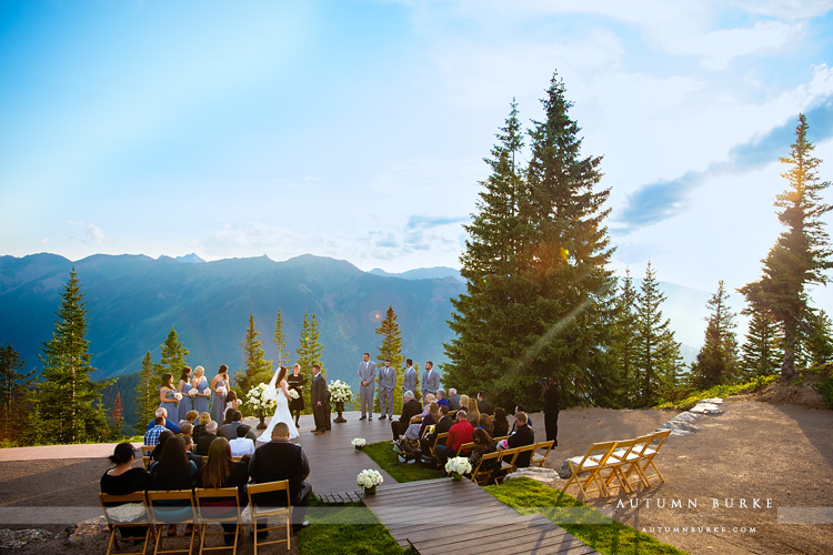 little nell aspen colorado wedding deck ceremony mountains