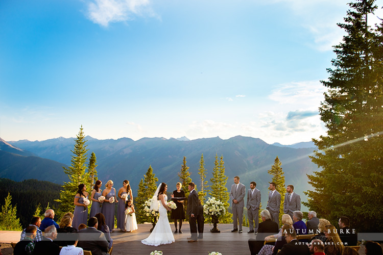 aspen colorado wedding deck little nell ceremony mountains