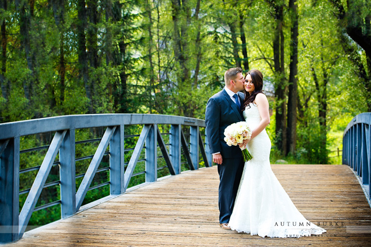 bride and groom portrait aspen wedding little nell wedding deck first look