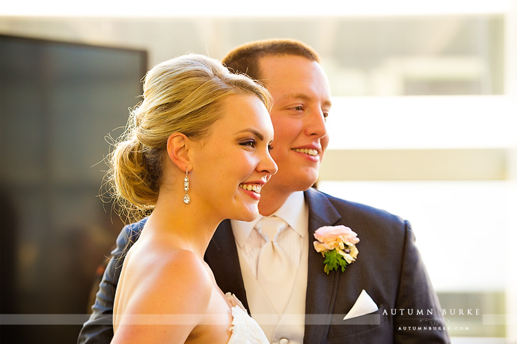 bride and groom seawell ballroom downtown denver wedding colorado dcpa