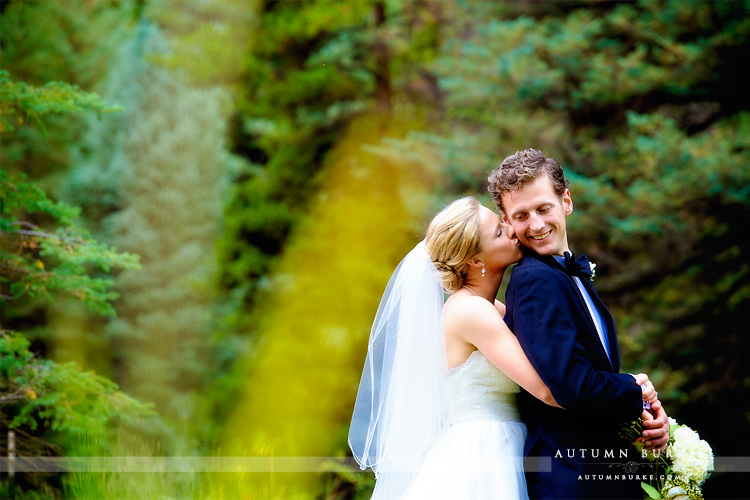 bride and groom vail wedding donovan pavillion colorado mountain wedding