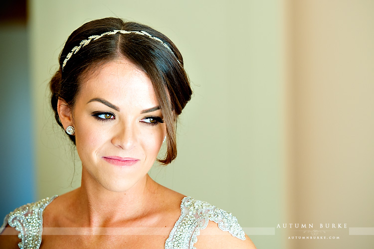 colorado highlands ranch mansion wedding bride getting ready bridal prep