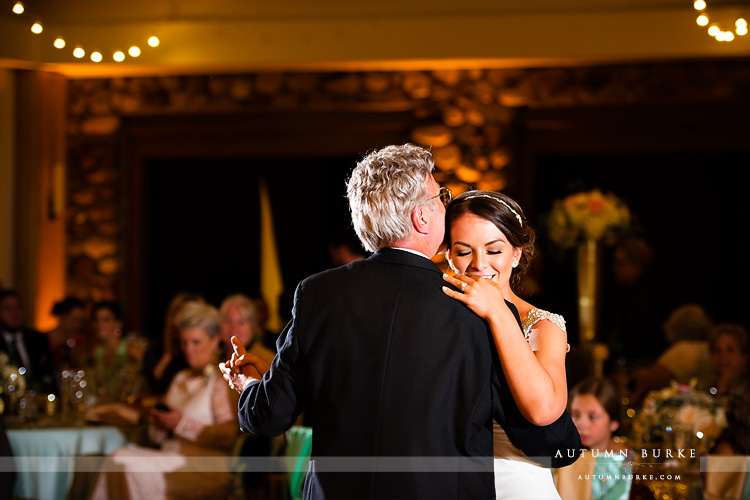 colorado highlands ranch mansion wedding father daughter dance parent dance reception