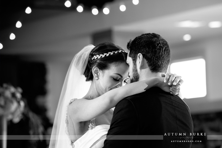colorado highlands ranch mansion wedding first dance bw