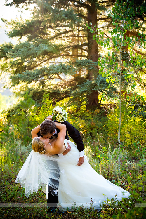 donovan pavilion vail colorado wedding bride and groom romantic