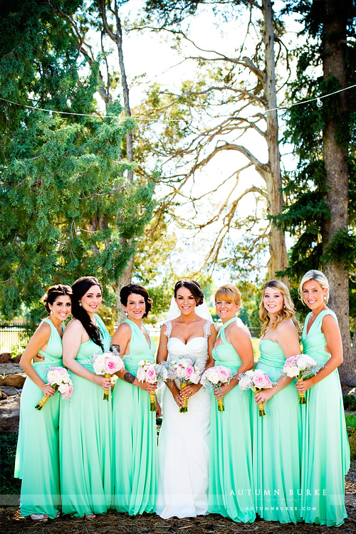 highlands ranch mansion colorado wedding bridal party bride and bridesmaids