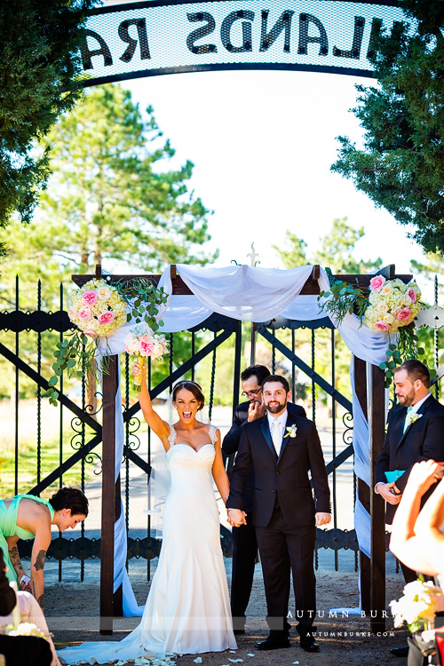 highlands ranch mansion colorado wedding ceremony just married
