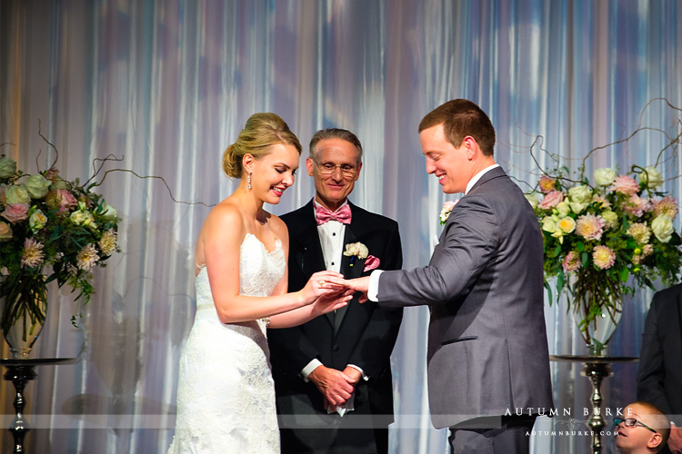seawell ballroom wedding ceremony ring exchange denver colorado