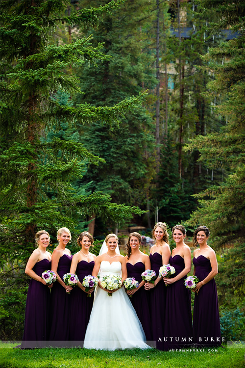 vail mountain bride donovan pavilion wedding bride and bridesmaids