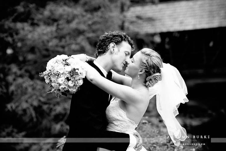 vail wedding donovan pavilion bride and groom portrait bw