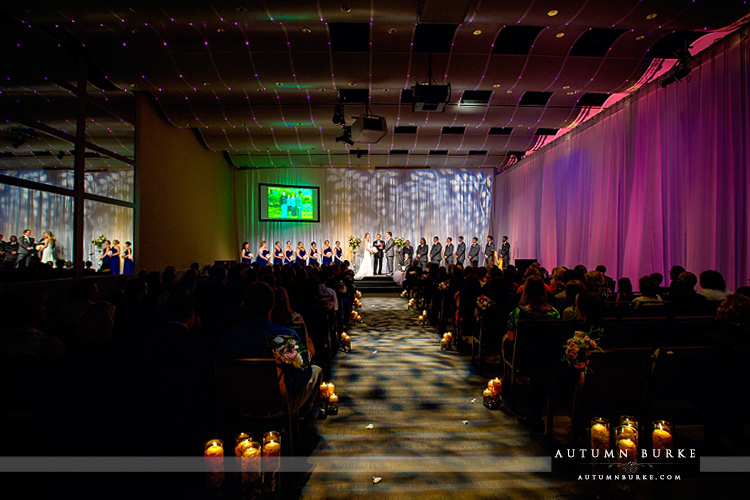 wedding ceremony seawell ballroom dcpa denver colorado