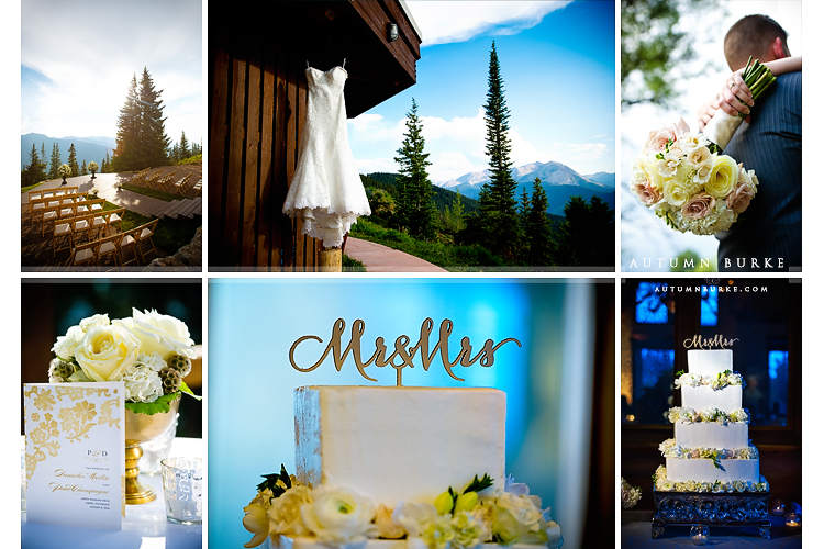 wedding decor and details little nell aspen wedding colorado mountain