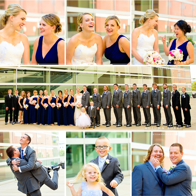wedding party denver colorado wedding seawell ballroom dcpa