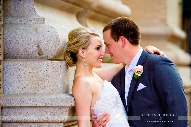 bride and groom portrait dcpa seawell ballroom wedding first look atrium