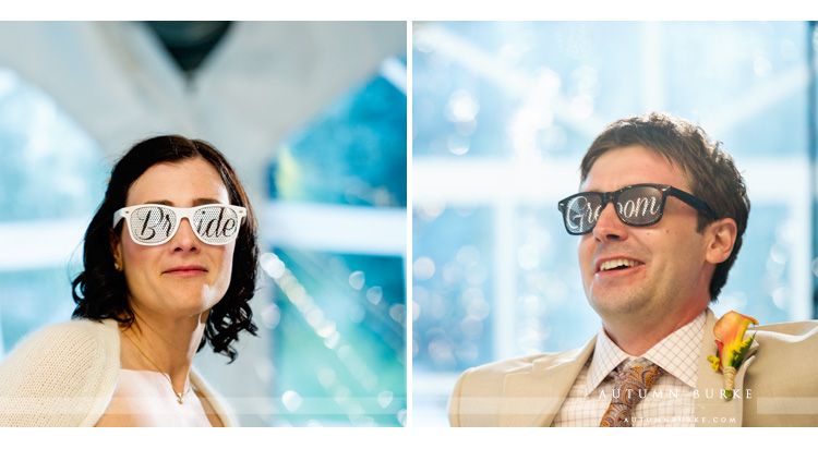 bride and groom sunglasses keystone ski tip lodge colorado mountain wedding