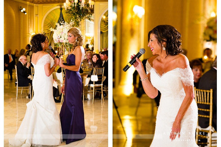 bride toasts her daughter colorado wedding the broadmoor