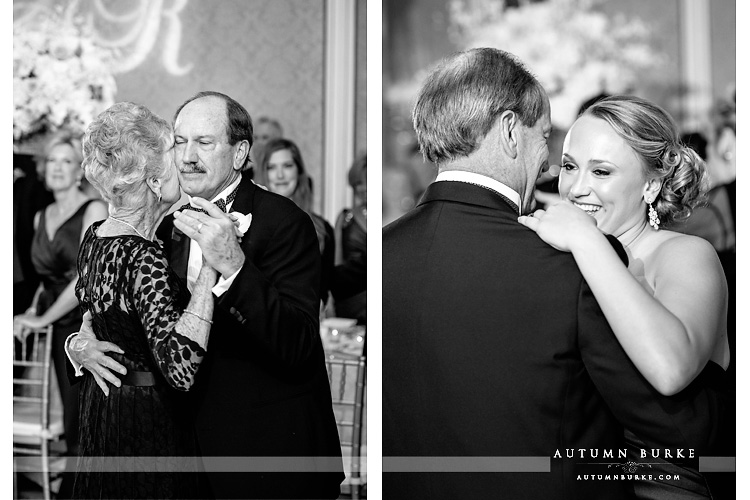 broadmoor wedding reception first dances mother son father daughter colorado bw