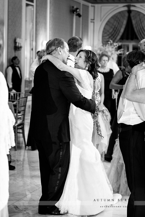 colorado broadmoor wedding reception bride and groom dance