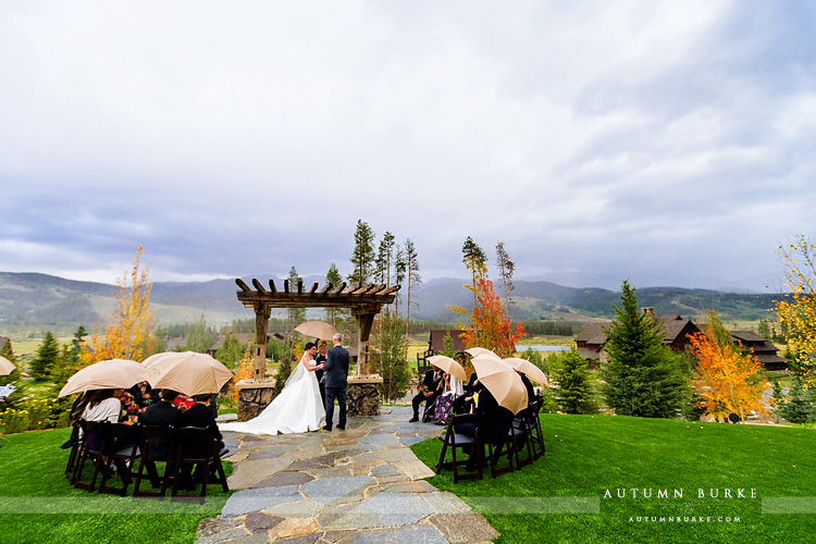 dtr wedding ceremony devils thumb ranch colorado mountain vows