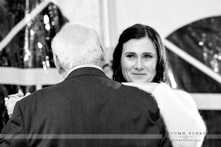 father daughter dance colorado mountain wedding ski tip lodge keystone reception
