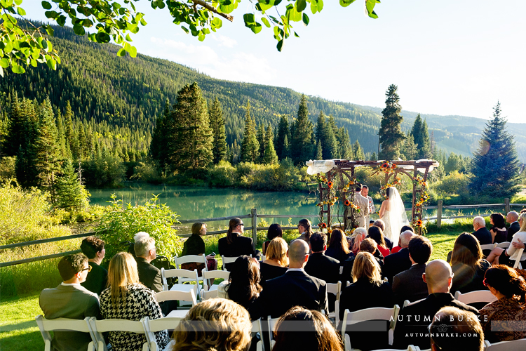 keystone colorado mountain wedding ski tip lodge ceremony chuppah lake