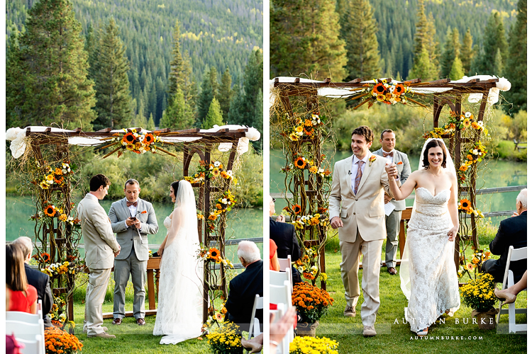 keystone colorado mountain wedding ski tip lodge ceremony married